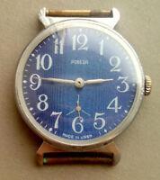 Russian watch  blue POBEDA, vintage men's watch, mechanical ussr unisex Pobeda