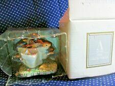 "Avon Porcelain Carousel Wonderland Miniatures ""Flowers For A Kiss"" 1993 Sealed"