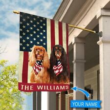 [Custom name] Black and Tan Cavalier Polyester Flag Outdoor Indoor Banner
