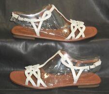 Via Spiga metallic leather open toe t-strap sandals Women's shoes size US 6.5 M