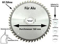 Sägeblatt Kreissägeblatt ALU Kreissäge 160 x 20 mm x 60 Z Kapp Tauch Säge Blatt