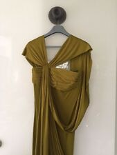 HERMES CHARTREUSE GREEN EVENING GOWN BY JPG - SZ 36 - GORGEOUS!!!