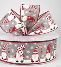 Holly Berry con Cable de Navidad de la cinta 2-1//2 Pulgadas 10 yardas