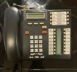 Nortel T7316e Phone Norstar NT8B27 w/ Labels Blem Good Charcoal Tested Warranty