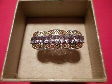 Rose de France Amethyst Ring in Platinum Overlay w/18K YG Accents-Size 7-1.40CTW