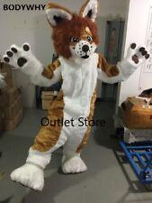 Long Fur Dog Fursuit Mascot Costume  Cosplay Celebration Carnival Dress