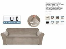 """SmarCute By Cosy Plus 3 Seater Sofa Lounge Covers Colour Is Taupe """"Brand New"""""""