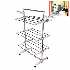 Foldable 6 Tiers Clothes Airer Indoor Laundry Drying Rack Horse Garment Hanger