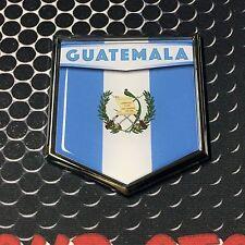 "Guatemala Flag Domed CHROME Emblem Proud Flag Car 3D Sticker 2'x 2.25"""