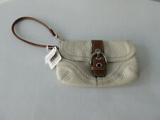 Coach Bag Cream Colour with Dark Brown Strap, New