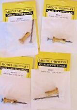 "Model Ship Boat Accessories Fittings  Brass Pedestal 1"" High 3/16"" Slot Lot of 4"