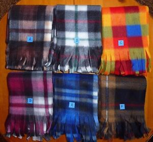 "NWT Unisex Warm Winter Polyester Plaid Scarf 10"" x 60"""