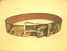 Mathews Mens Belt Camouflage Leather Lost Camo Amish Includes 2 Buckles Size 38