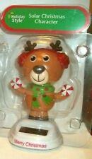 NEW Solar Powered Dancing Winter Merry Christmas Cute Reindeer Bobble Head Toy