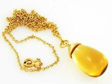 Tiffany & Co Gold Paloma Picasso Citrine Pendant Necklace
