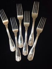 Vintage - (6) Dinner Forks - Coquille Pattern - Wallace 18/10