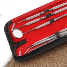 5pcs Dental Hygiene Cleaning Tools Kit Picks Mirror Scaler Tartar Remove Tweezer