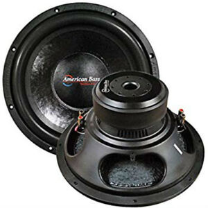 """American Bass Godfather GF1211 12"""" 400 oz Magnet 4"""" Voice Coil Dual 1 ohm"""