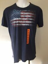 NWT Men's Galt Signature American Shirt Heather Blue American Flag XXL (2XL)