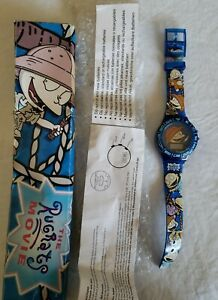 Vintage 1998 Burger King Rugrats The Movie Tommy Digital Blue Watch NEW MIB