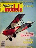 Vintage Flying Models Magazine February 1980 R/C Scale WACO 10 TF Cosair m309