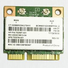 Broadcom BCM43142 802.11bgn 1x1 Wi-Fi+Bluetooth 4.0 HMC WLAN adapter 753076-001