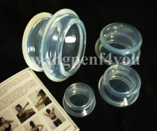 Silicone Massage Suction Cups Vacuum Cupping Physical therapy Sets Glass Jar 4pc
