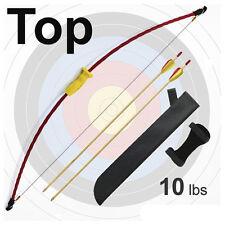 Arco de niños 12 de arranque niños flechas arco aljaba flecha diversión u. juego F. afuera
