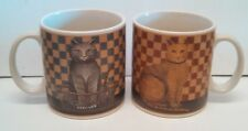 SET OF 2 DAVID CARTER BROWN COUNTRY KITTIES COLLECTORS COFFEE MUGS