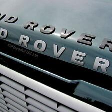 Sombrero Negro Brillante Letras Land Rover Defender Serie 1 2 3 LRX/SVX/90 Placa