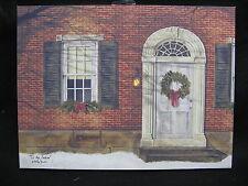 Tis The Season Christmas Winter Porch Lighted Canvas Wall Decor Sign