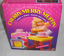 #7199 Nrfb Vintage Mattel Cherry Merry Muffin Snack N Serve Muffin Mix/Table