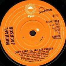 "MICHAEL JACKSON don't stop 'til you get enough/i can't help it uk 1979 7"" WS EX/"