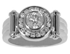 2.20 Ct TW Men's Round Diamond Designer Style Pinky Ring In Platinum
