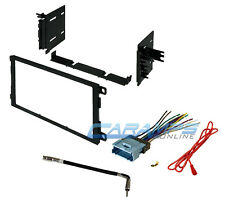 NEW CAR STEREO RADIO DOUBLE 2 DIN DASH INSTALLATION TRIM KIT W/ WIRING HARNESS