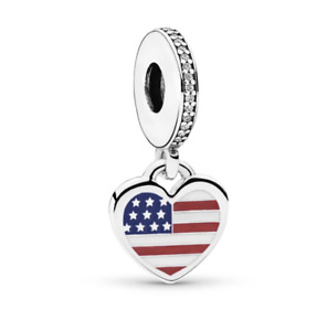 New Genuine PANDORA USA Dangle Charm S925 ALE Sterling Silver With Pouch