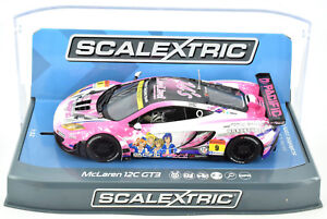 "Scalextric ""Pacific"" McLaren 12C GT3 DPR W/ Lights 1/32 Scale Slot Car C3849"