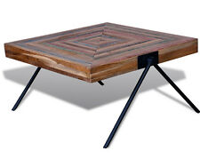 Industrial Coffee Table Vintage Living Room Solid Reclaimed Wood Retro Furniture
