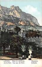 Aloupka Crimee Ai Petri Mountain Scenic View Antique Postcard J49085