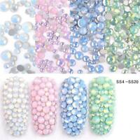 Multi Size SS4-SS20 Opal Rhinestones Colorful Crystal Glass Gems Nail Art Decors