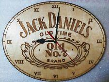 Jack Daniels Wall Clock  engraved on wood man cave gift item
