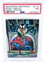 1992 Marvel Masterpieces Battle Spectra #4-D Venom vs. Spider-Man PSA NM 7