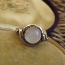 BEAUTIFUL STERLING SILVER MOONSTONE RING UK SIZE R