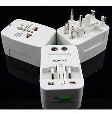UNIVERSALE internazionale World Wide Multi viaggi Plug Adattatore Caricabatteria Uk 3 Pin dell' Unione europea