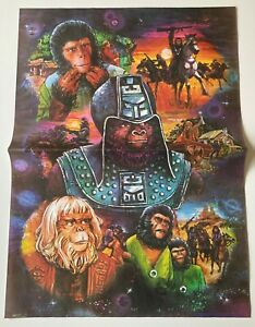 Planet Of The Apes Vintage Sheet of Wrapping Paper Jaycraft UK Rare 1975 Crisp