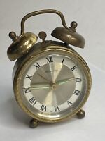 Vtg Blessing Wind-up Alarm Clock West Germany Brass Working Loud Tick