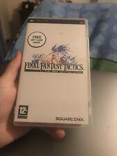 Final Fantasy Tactics The War Of The Lions Psp Case Won't Close