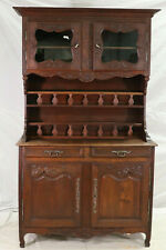 Antique Cabinet, Display,Buffet Deux Corps, Louis XV Style Normandy, Oak!!