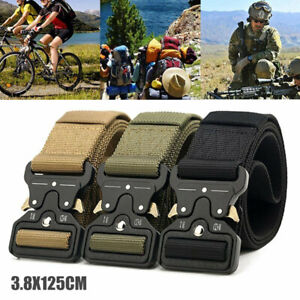 Outdoor Army Military Tactical Belt Safety Nylon Men Male Combat Waistband