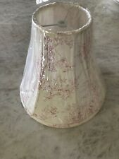 "FRENCH COUNTRY Children's Pink/Cream Toile Lamp Shade 10.5"" Tall"